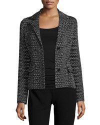 M Missoni Space Dye Two Button Blazer Black