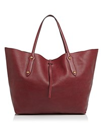 Annabel Ingall Isabella Large Leather Tote Bordo Red Gold
