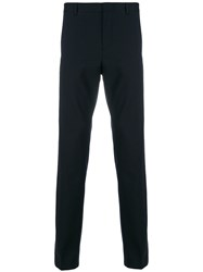 Calvin Klein Cropped Tailored Trousers Blue