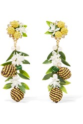 Mercedes Salazar Tropic Pineapple Gold Plated Yellow