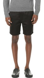 Marc Jacobs Satin Piped Shorts Jet Black