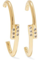 Elizabeth And James Leda Gold Plated Crystal Earrings Gold