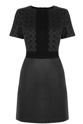 Oasis Embroidered Faux Shift Black