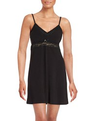 Flora By Flora Nikrooz Lace Accented Nightie Black
