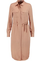 Raoul Tippi Silk Shirt Dress Pink