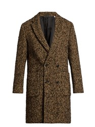 Tomorrowland Double Breasted Wool Blend Fleck Coat Multi