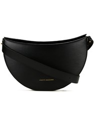 Benedetta Bruzziches Structured Medium Shoulder Bag Black