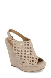 Chinese Laundry Women's Matilda Wedge Sandal Sand Suede