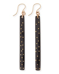 Ashley Pittman Konga Dark Horn Starry Stick Earrings
