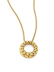 John Hardy Classic Chain 18K Yellow Gold Small Round Pendant Necklaec