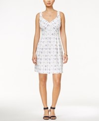Maison Jules Anchor Print Fit And Flare Dress Only At Macy's Bright White