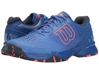 Wilson Kaos Comp Amparo Blue Surf The Web Fiery Coal Women's Tennis Shoes