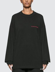 Alexander Wang Chynatown Long Sleeve T Shirt Black