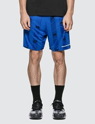 Alexander Wang Athletic Jacquard Jersey Shorts Blue
