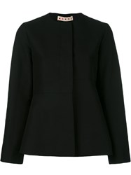 Marni Flared Collarless Jacket Black