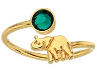 Alex And Ani Elephant Ring Wrap Precious Metal 14Kt Gold Plate Ring