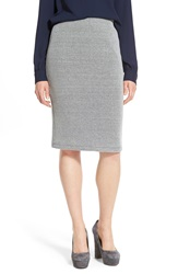 Wayf Ribbed Pencil Skirt Grey