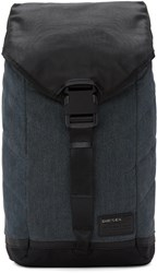 Diesel Indigo And Black D V Denim Flap Backpack
