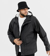 Another Influence Plus Rain Trench With Fleece Hood Black