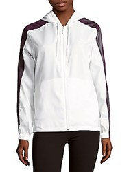 Puma Colorblock Hooded Jacket White