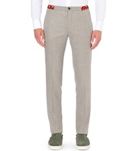 Kolor Slim Fit Tapered Wool Blend Trousers Light Beige