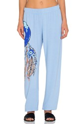 Lauren Moshi Large Evil Eye Dreamcatcher Pant Baby Blue