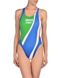 Arena Swimwear Performance Wear Women Bright Blue