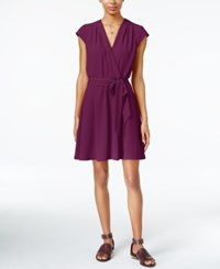 Maison Jules Cap Sleeve Wrap Dress Only At Macy's Cherry Plum