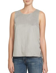 1.State Lace Up Tank Top Grey