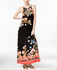 Inc International Concepts Petite Floral Print Maxi Dress Only At Macy's Butterfly Border