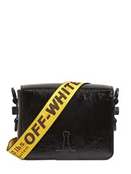 Off White Binder Clip Patent Leather Shoulder Bag