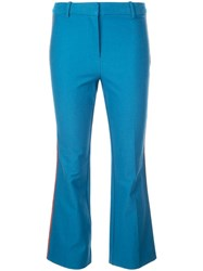 Derek Lam 10 Crosby Side Panelled Flared Trousers Blue