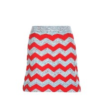 Miu Miu Knitted Virgin Wool And Alpaca Blend Miniskirt Multicoloured