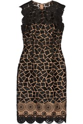 Mikael Aghal Guipure Lace Dress Black