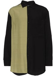 Song For The Mute Panelled Oversized Shirt Black