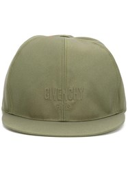 Givenchy Logo Embroidered Hat Green