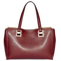 Modalu Flora Leather Tote Bag Berry Mix