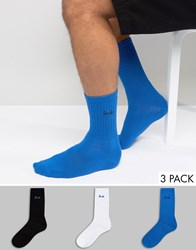 Pringle Crew Socks 3 Pack Blue Multi