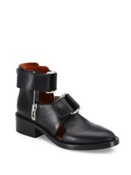 3.1 Phillip Lim Addis Cutout Leather Booties Black