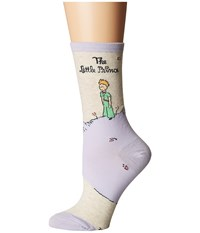 Socksmith The Little Prince Cover Oatmeal Women's Crew Cut Socks Shoes Brown