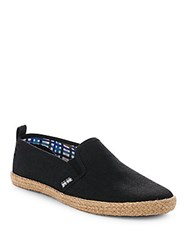 Ben Sherman Round Toe Slip On Sneakers Black Line