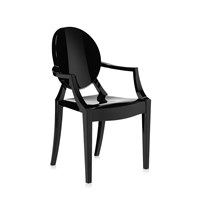 Kartell Loulou Ghost Children's Chair Glossy Black