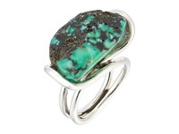 King Baby Studio Wire Ring W A Natural Turquoise Stone Silver Turquoise