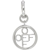 Off White Silver Circle Single Earring
