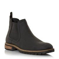 Howick Chariots Natural Sole Chelsea Boots Black