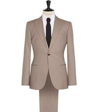 Reiss Oakland Wool Slim Suit In Taupe