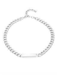 Design Lab Lord And Taylor Silvertone Chainlink Id Necklace