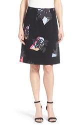 Women's Ellen Tracy Stretch Knit A Line Skirt Atmospheric Floral