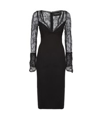 Nicholas French Lace Cocktail Dress Female Black