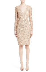 Rachel Gilbert Women's Sequin Body Con Dress